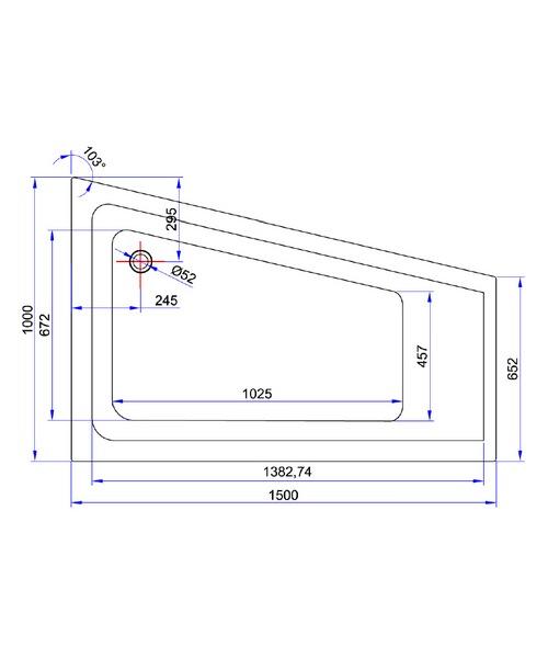 Technical drawing 21444 / TARC723CBLHS3