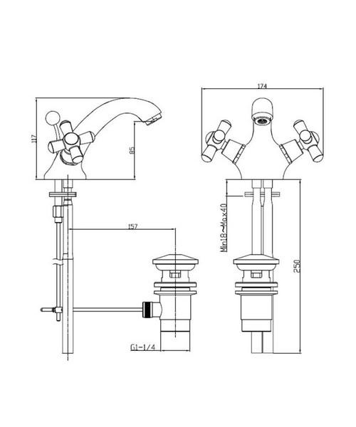 Technical drawing 21614 / TRHC04