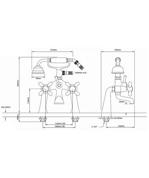Technical drawing 21621 / TRHG02