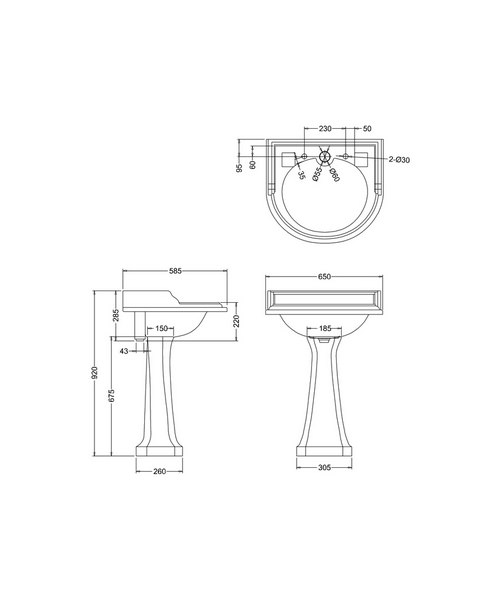 Technical drawing 2180 / B16