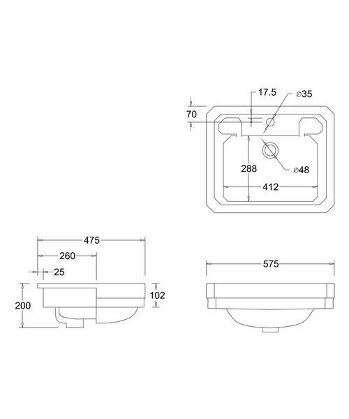 Technical drawing 2193 / B121TH