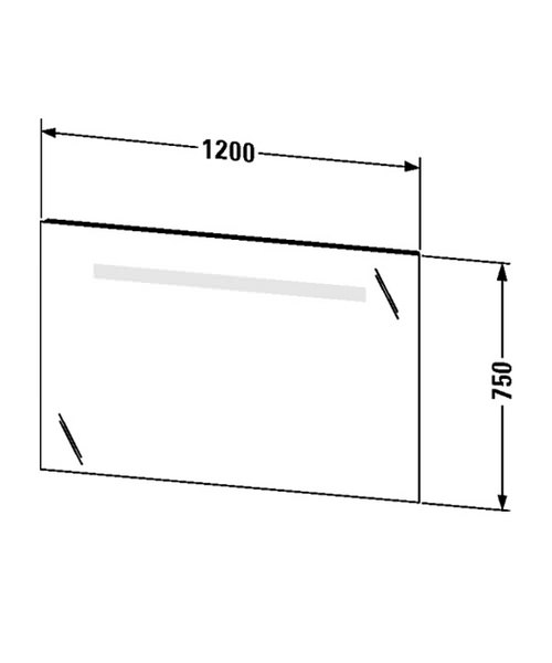 Duravit ketho 1200 x 750mm mirror with lighting for Mirror 750 x 1200