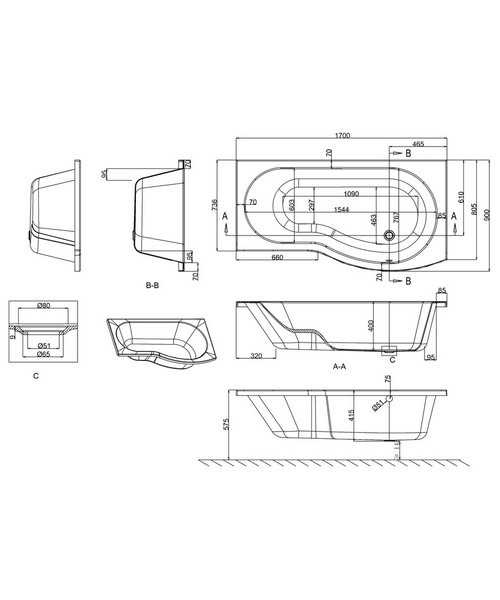 Technical drawing 24080 / R22