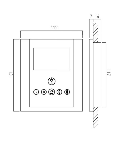 Technical drawing 24522 / IDE-147B-C/P