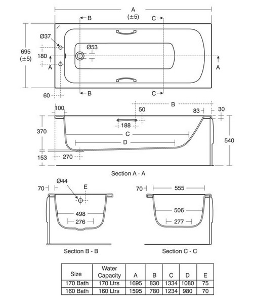 Technical drawing 29640 / E027701