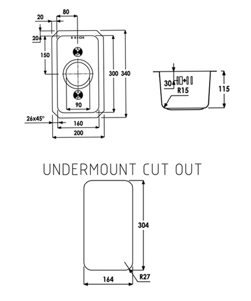Technical drawing 29917 / AW5001