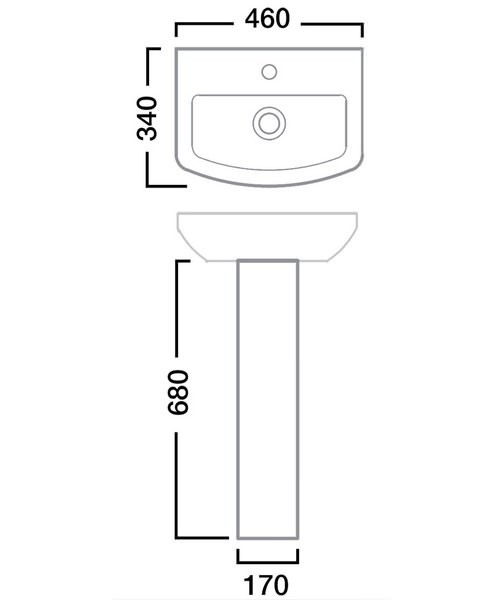 Technical drawing 30080 / SB745S