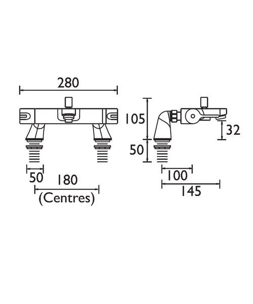 Technical drawing 3020 / DUL THBSM C