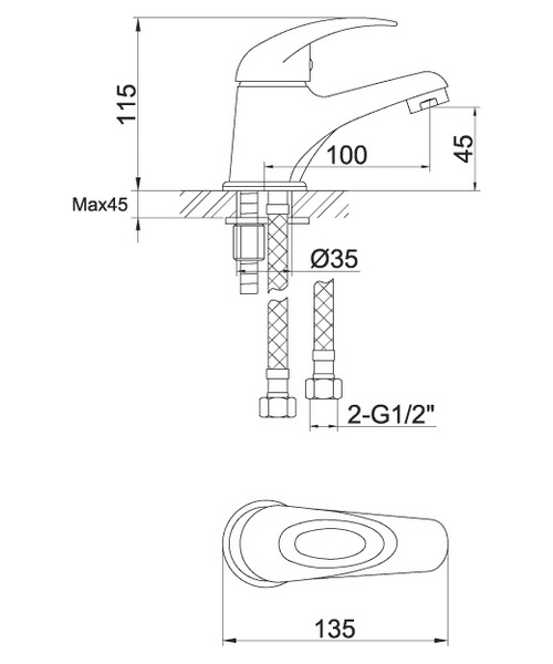 Technical drawing 30579 / DVESBAS