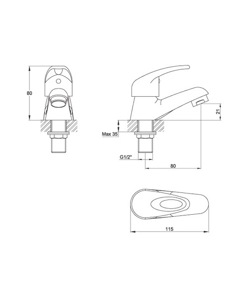 Technical drawing 30580 / DV12