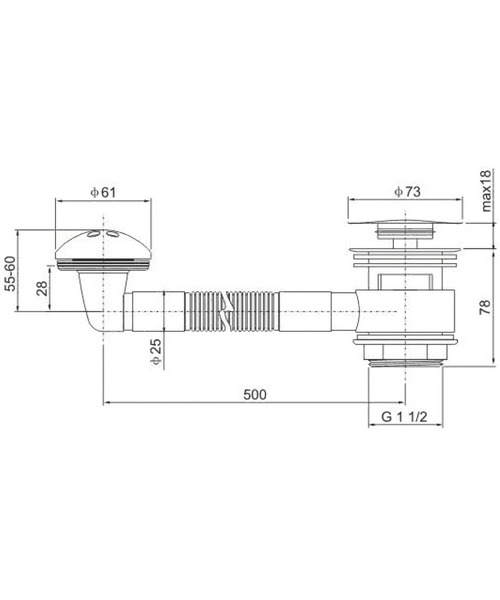 Technical drawing 30640 / CB105