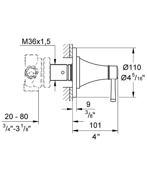 Technical drawing 31172 / 19942000