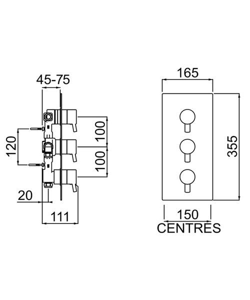 Technical drawing 3266 / PM2 SHC3DIV C