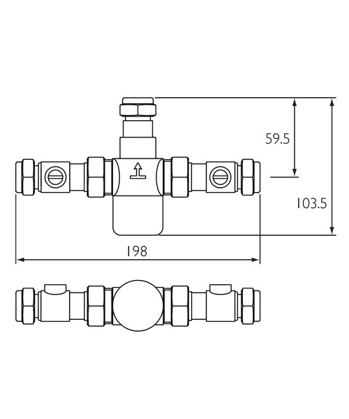 Technical drawing 3327 / MT503CP-ISO