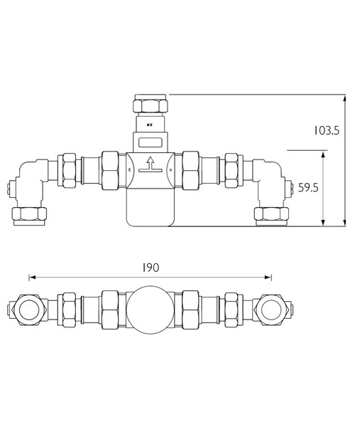 Technical drawing 3328 / MT503CP-ISOELB