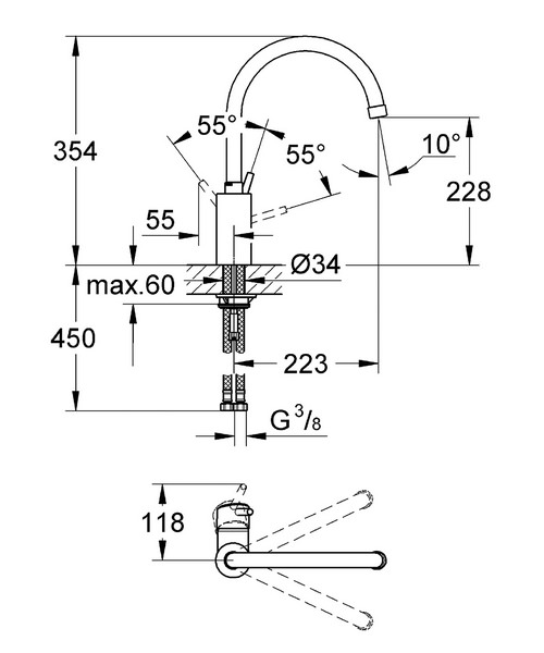 Technical drawing 33321 / 32661001
