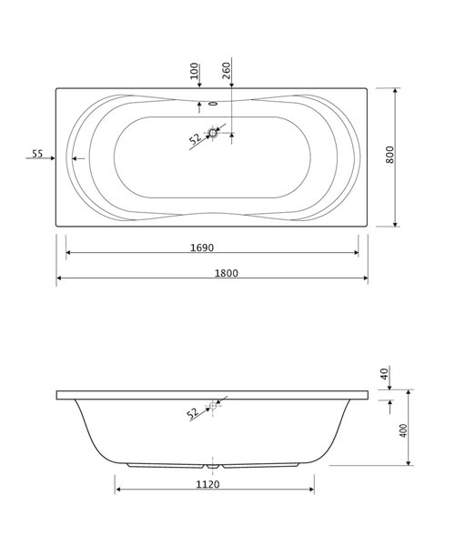 Technical drawing 33697 / 200APOLLO1880CWS06