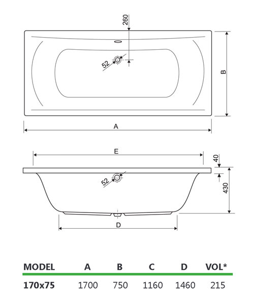 Technical drawing 33703 / 200ARENA1775CWS06