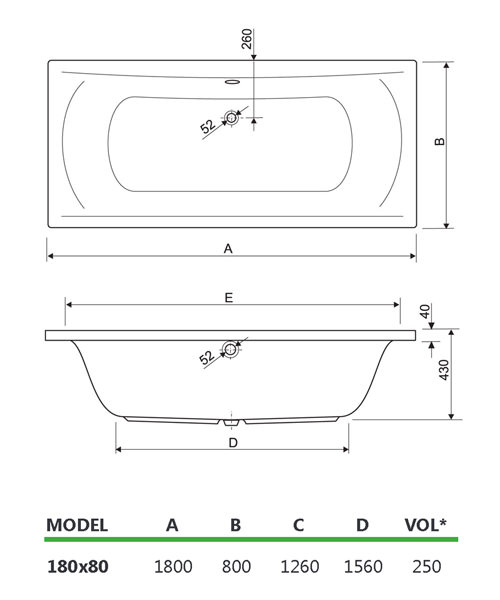 Technical drawing 33709 / 200ARENA1880CWS06