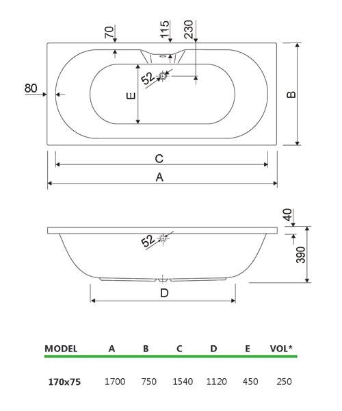Additional image of aquaestil  200CALISTO1770CWS06