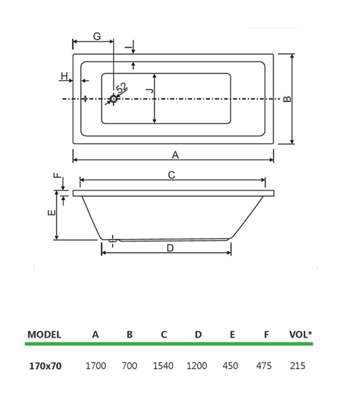 Technical drawing 33817 / 200PLANE1770CWS06