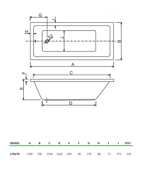 Technical drawing 33865 / 200PLASOLO1770CWS06