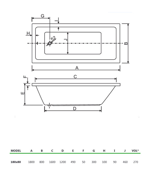 Technical drawing 33877 / 200PLASOLO1880CWS06