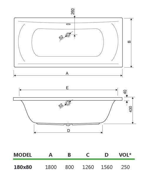 Technical drawing 33990 / 200ARE1880AQMAXCWS24