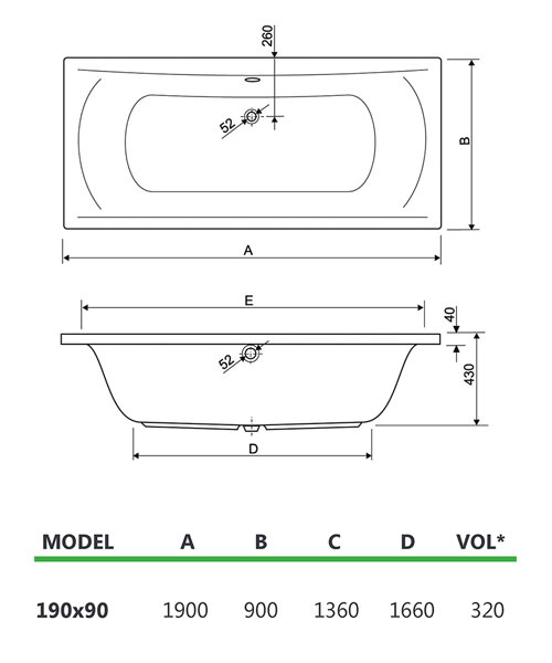 Technical drawing 33991 / 200ARE1990AQMAXCWS06