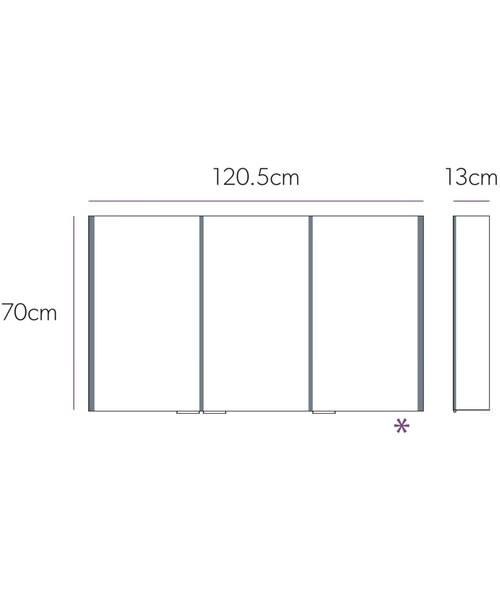 Alternate image of HiB Xenon 50 Single Door LED Bathroom Cabinet 505 x 700 x 130mm