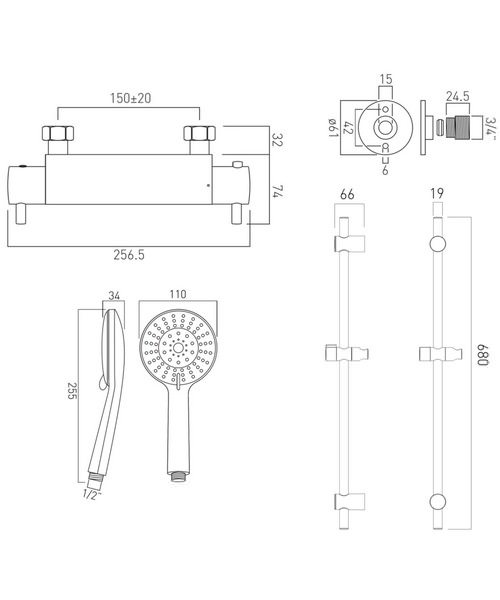 Technical drawing 34324 / CEL-1701-1/2-11-C/P