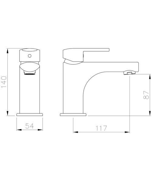 Technical drawing 34429 / AB4140