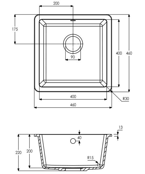 Technical drawing 34484 / AW3125