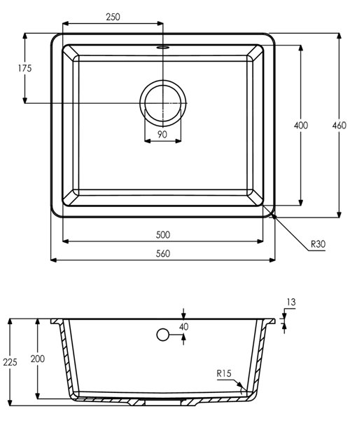 Technical drawing 34487 / AW3127