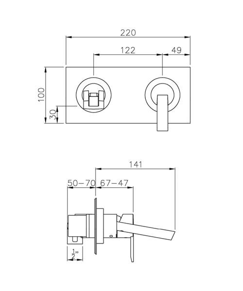 Technical drawing 35818 / AB1354