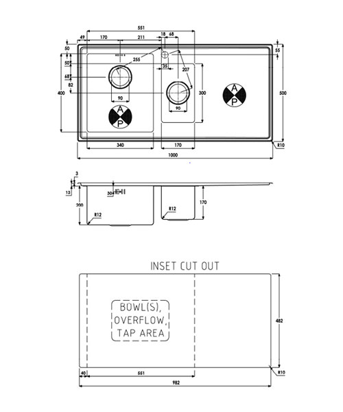 Technical drawing 35952 / AW5031