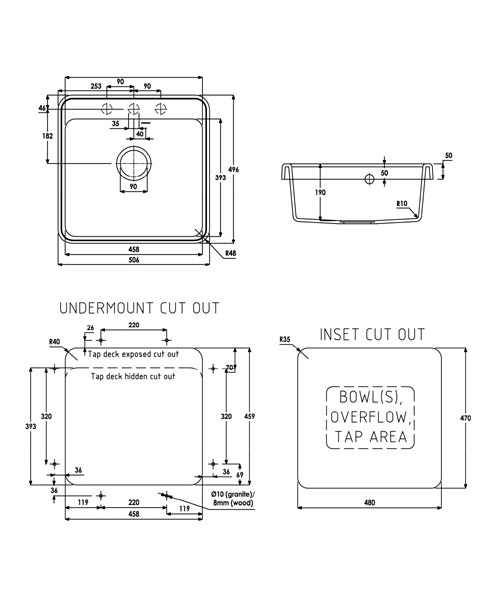 Technical drawing 35966 / AW3110