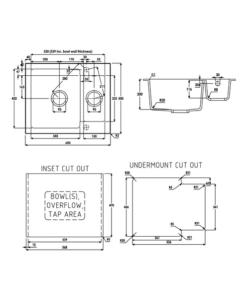 Technical drawing 35975 / AW3005