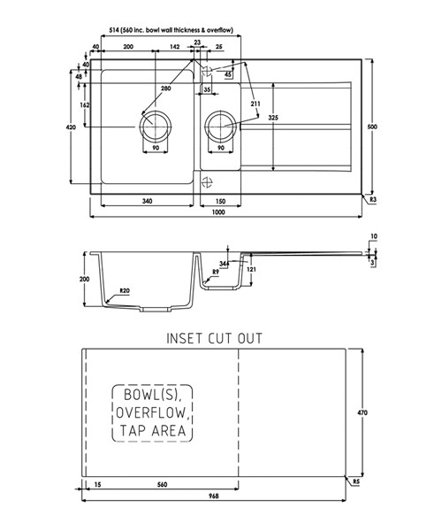 Technical drawing 35977 / AW3006