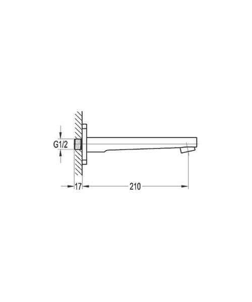 Technical drawing 36036 / DEBAS/BFSPOUT