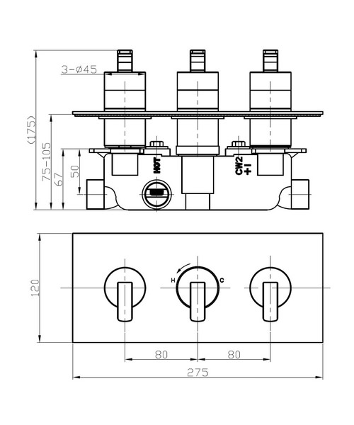 Technical drawing 36298 / KH01_2001RC