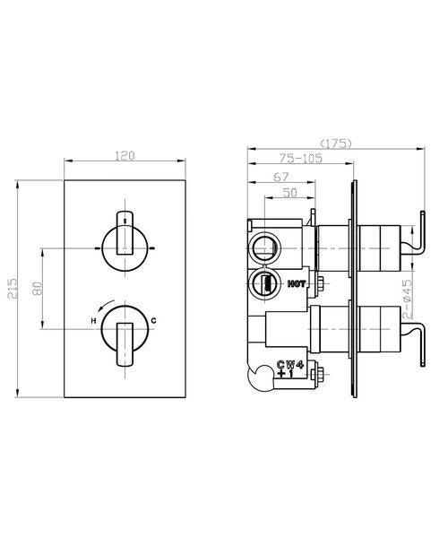 Technical drawing 36300 / KH01_1500RC