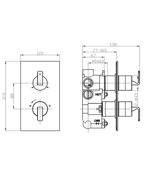 Technical drawing 36302 / KH01_2500RC