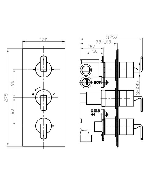 Technical drawing 36303 / KH01_3000RC