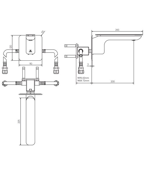 Technical drawing 36309 / KH02_120WNC