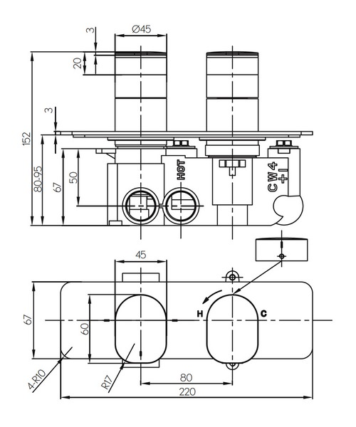 Technical drawing 36316 / KH02_1501RC
