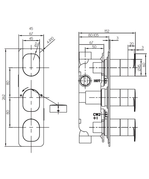 Technical drawing 36317 / KH02_2000RC