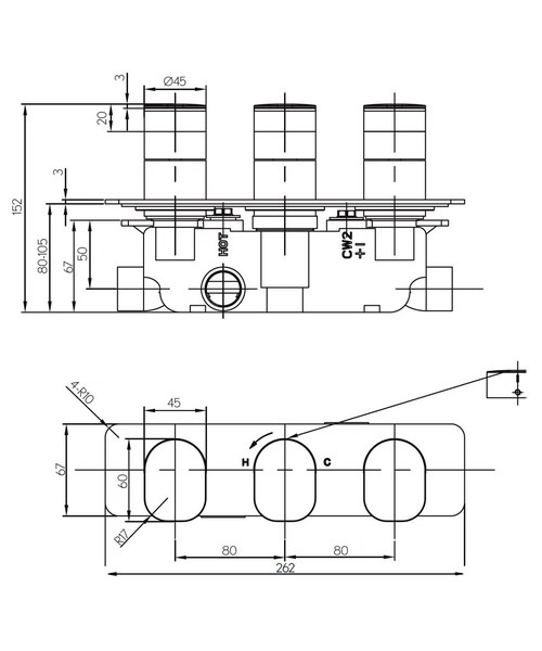 Technical drawing 36318 / KH02_2001RC