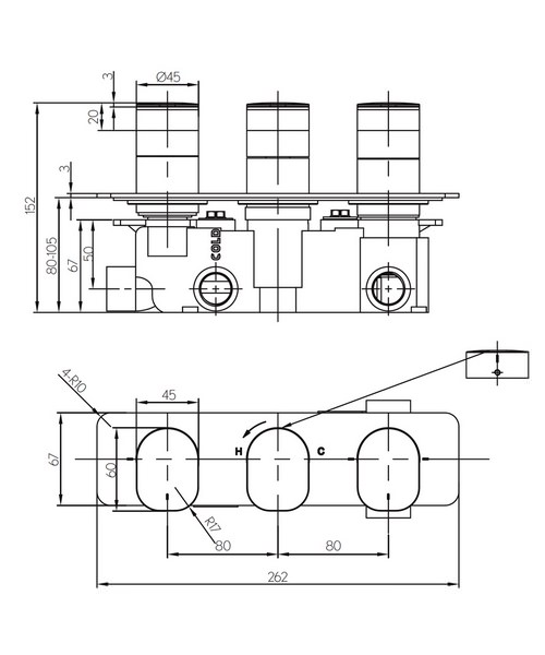 Technical drawing 36320 / KH02_3001RC