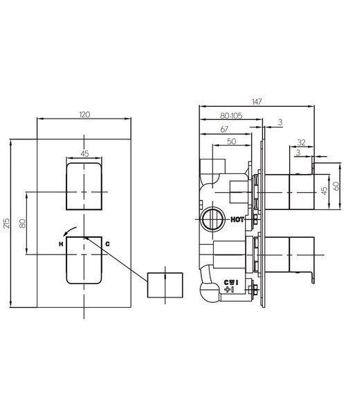 Technical drawing 36329 / KH03_1000RC